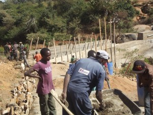 The Water Project : kenya4299-15-construction-progress-in-kee