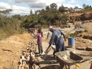 The Water Project : kenya4299-16-construction-progress-in-kee