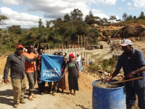 The Water Project : kenya4299-17-construction-progress-in-kee