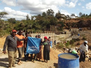 The Water Project : kenya4299-18-construction-progress-in-kee