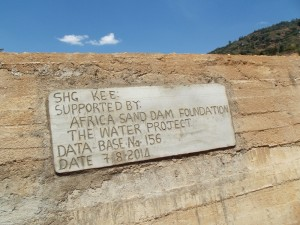 The Water Project : kenya4299-21-dam-complete-in-kee