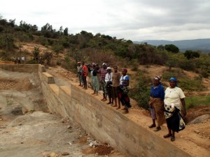 The Water Project : kenya4299-25-dam-complete-in-kee