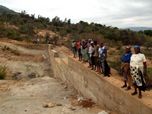The Water Project : kenya4299-26-dam-complete-in-kee