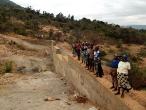 The Water Project : kenya4299-27-dam-complete-in-kee