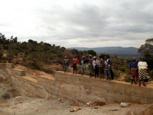 The Water Project : kenya4299-28-dam-complete-in-kee
