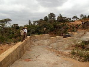 The Water Project : kenya4299-29-dam-complete-in-kee