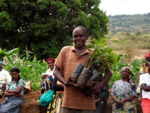 The Water Project : kenya4299-38-tree-distribution-in-kee