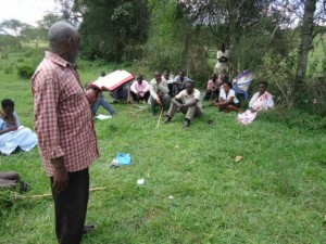 The Water Project : uganda6056-27-local-evangelist-sharing-the-gospel