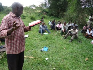 The Water Project : uganda6056-28-local-evangelist-sharing-the-gospel