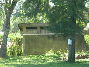 The Water Project : kenya4281-10-imulama-dispensary-toilets-and-handwashing-station