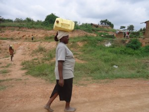 The Water Project : uganda6059-11-water-collection-from-far