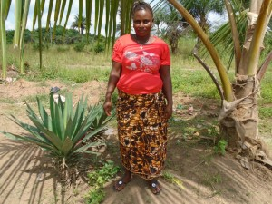 Aminata - Farmer, discussing her newly donated water project in Sierra Leone