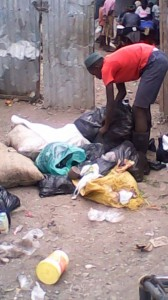 The Water Project : kenya-pamojamashimoni-19-garbage-being-sorted-after-household-collection-2