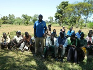 The Water Project : kenya4319-13-community-member-answering-question