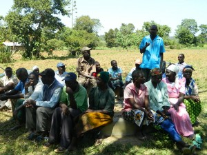 The Water Project : kenya4319-14-community-member-answering-question