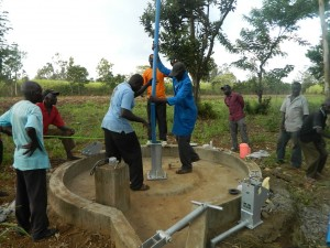 The Water Project : kenya4321-38-rising-main-pipe-installation
