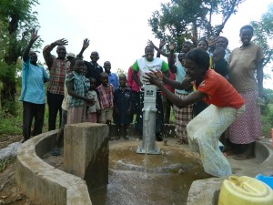 The Water Project : kenya4321-46-the-joyous-women-from-the-community-celebrating