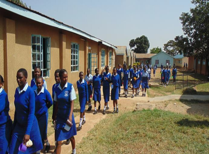 The Water Project : kenya4323-01-students-at-st-marys-girls-high-school
