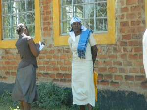 The Water Project:  Baseline Survey At Emayungu Church Of God