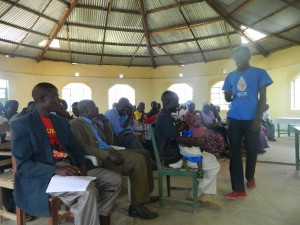 The Water Project:  Emayungu Church Sanitation And Hygiene Trainings
