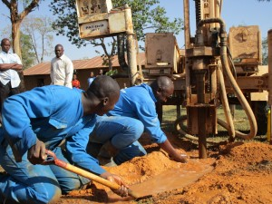 The Water Project:  Emayungu Church Drilling