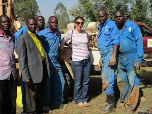 The Water Project : kenya4332-45-twp-staff-at-emayungu-church-drilling