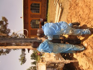 The Water Project:  Emayungu Church Well Casing