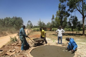 The Water Project:  Mayungu Church Community Pad Construction