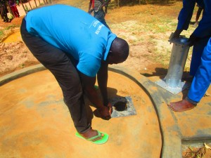 The Water Project:  Emayungu Church Of God Pump Installation