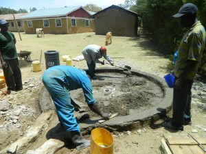 The Water Project : kenya4339-32-concrete-laying
