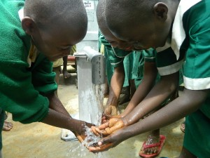 The Water Project : kenya4339-65-musidi-primary-school-pupils-enjoying-water