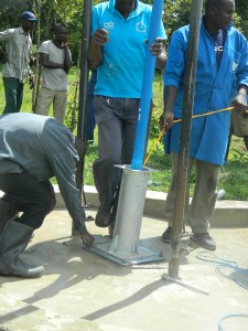 The Water Project : pump-installation-process-3