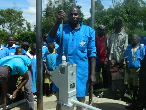 The Water Project : pump-installation-process-5