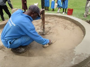 The Water Project : plastering-4