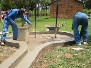 The Water Project : plastering-6