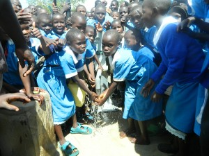 The Water Project : pupils-are-happy-enjoying-the-clean-and-safe-water-1