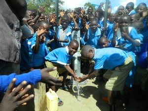 The Water Project : pupils-are-happy-enjoying-the-clean-and-safe-water-3