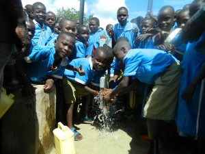 The Water Project : pupils-are-happy-enjoying-the-clean-and-safe-water-6