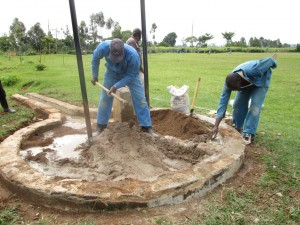 The Water Project : sand-and-cement-mixing