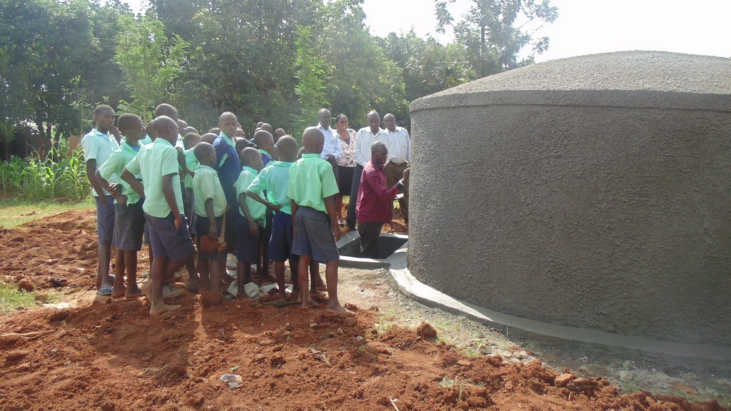 Photo of Lureko Primary School Rain Water Harvesting Tank and VIP Latrine
