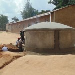 The Water Project: Mahiakalo Primary School Rainwater Harvesting Tank and Ecosan Latrine -