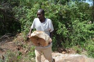 The Water Project : kenya4386-02-nzalu-dam-site-and-local-materials