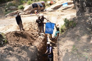 The Water Project : kenya4386-08-nzalu-trenching-preparations
