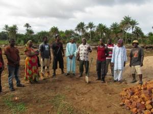 The Water Project : sierraleone5070-12-groundbreaking-ceremony-rev-sesay-prayer