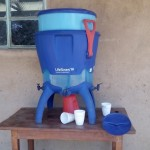 The Water Project: Ebulondi Primary School Rainwater Harvesting and VIP Latrines -  Drinking Water Station