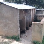 The Water Project: Ebulondi Primary School Rainwater Harvesting and VIP Latrines -  Old Latrines