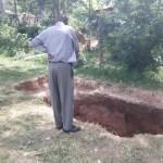 The Water Project: Ebulondi Primary School Rainwater Harvesting and VIP Latrines -  Preparing For New Latrines