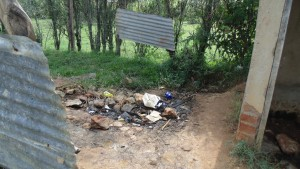 The Water Project : kenya4326-89-this-is-the-urinal-pit-used-by-boys-at-eshinutsa-primary-school