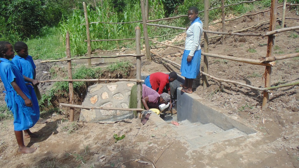The Water Project : kenya4372-43-clean-water-flowing