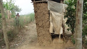 The Water Project:  Pit Latrine Used By Village Members At Mumuli